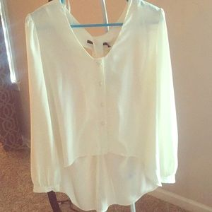 High/Low open back blouse